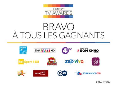La chaîne FRANCE 24 primée par les Eutelsat TV Awards 2016 !