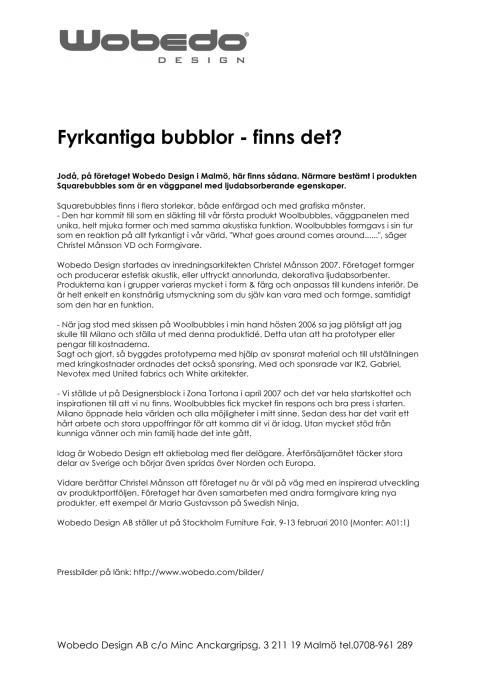 Fyrkantiga bubblor - finns det ?