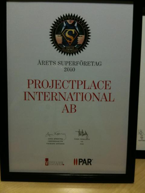 Projectplace utsett till Superföretag 2010
