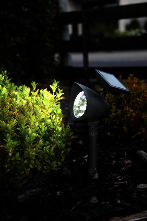 Solcellsladdad trädgårdsspot buske
