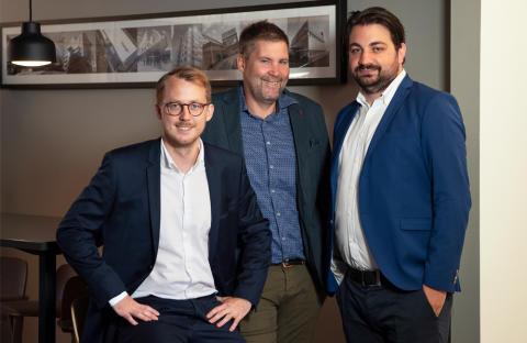 Jacob Geijer, David Alm och Boris Damljanovic förstärker på Wästbygg Projektutvecklings Göteborgskontor.