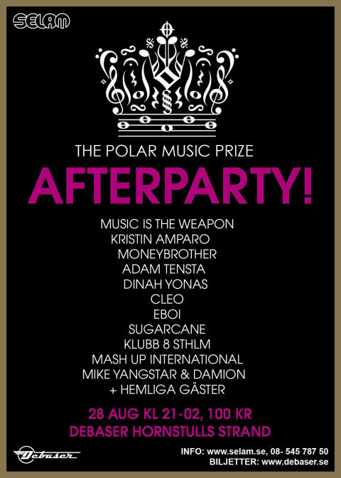 The Polar Music Prize Afterparty - stor fest efter Youssou N'Dours konsert 28 augusti!