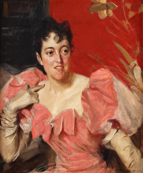 """Zornmuseet köper Anders Zorns porträtt """"Mrs. Walter Bacon"""""""