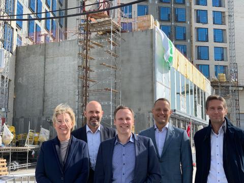 Milepæl: Byggeriet af det kommende strandpark-hotel tager fart