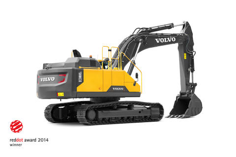 Volvo EC380E vann designpris vid Red Dot Product Design Awards 2014