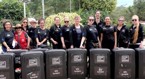 Teamet anländer i Bolivia 2019