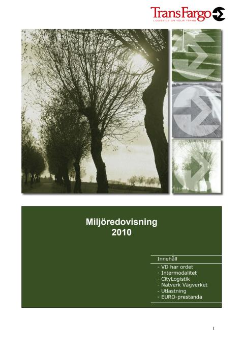 Miljöredovisning för TransFargos verksamhet 2010
