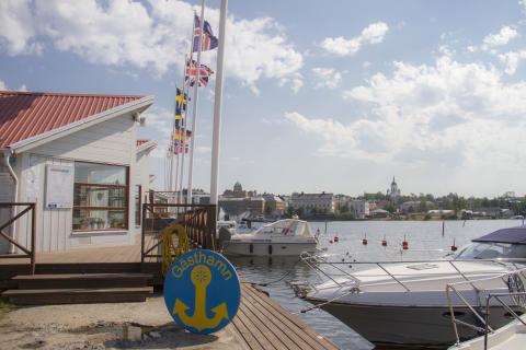 Invigning av Härnösands marina och skattjakt i Höga Kustens skärgård