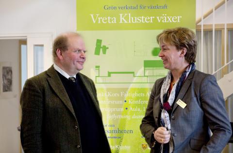 """Landsbygdsministern på Vreta Kluster  """"Skogen ska skapa fler jobb"""""""