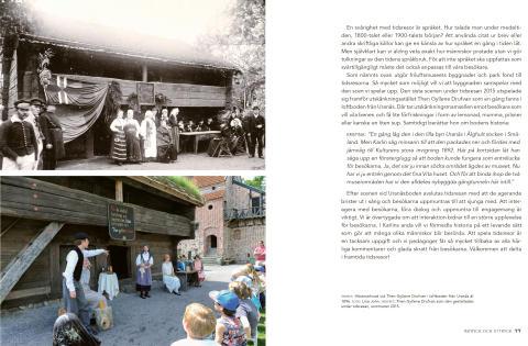 Kulturen bakom kulisserna – uppslag från boken där man ser levandegörande vid Uranäsboden 1896 och 2015.