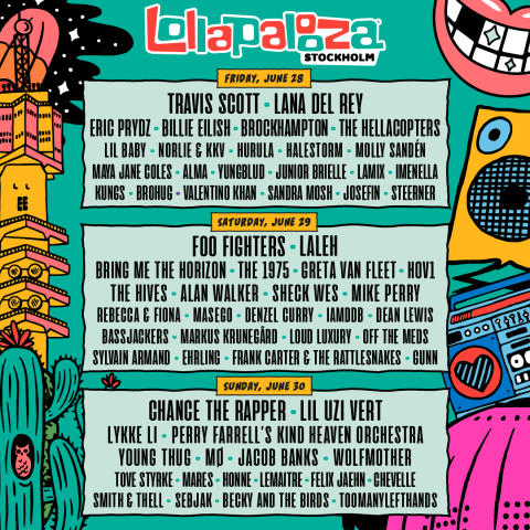 34 nye acts til Lollapalooza Stockholm – festivalen udvider til tre dage!