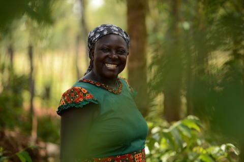 Mjölkbonden Margaret Muchanga - en av de som nås av investeringen