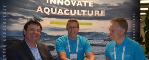 Walter Rakitsky, TerraVia, Hans Halle-Knutzen, Sales and Marketing Director, BioMar Norway, Vidar Gundersen, Global Sustainability Director for BioMar Group.