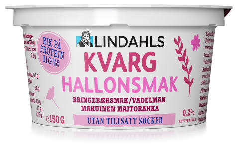 Lindahls kvarg Hallonsmak 150 gram