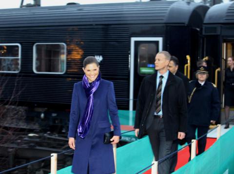Kronprinsessan Victoria reser med SJ