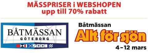 Bild med länk till Evenemangssida Mässpriserna gäller även i webshopen