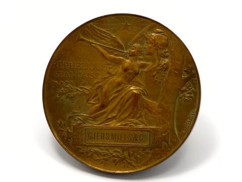 Myntauktion 10/2, nr 124, minne, brons, Exposition Universelle, Paris, år 1889.