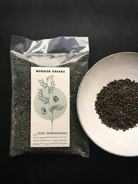 Svenskodlad, grön delikatesslins.
