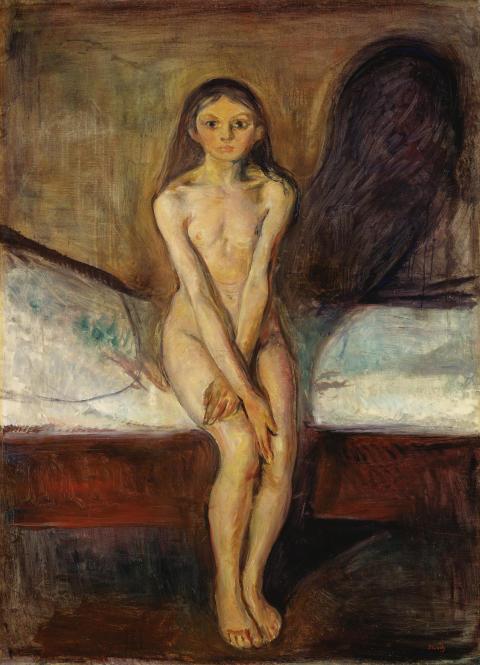 "Edvard Munch, ""Puberty"", 1894-95."