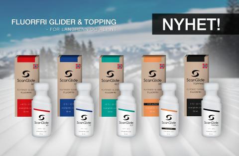 Konkurransedyktig miljøvennlig gliderprodukt helt uten giftig fluor
