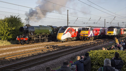 Hitachi built Azuma alongside historic trains