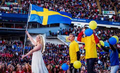 Swedish flag at the Opening