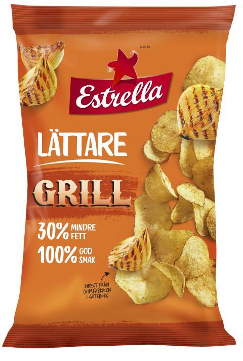 Lättare chips med smak av Grill från Estrella