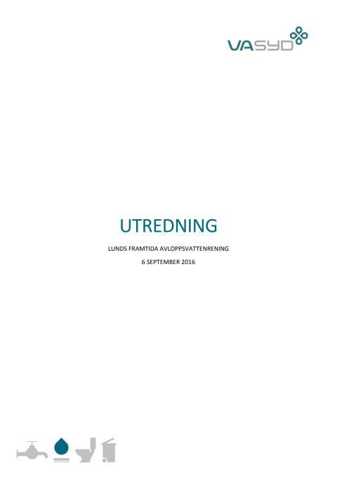 Utredning om Lunds framtida avloppsvattenrening