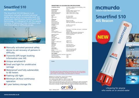 McMurdo S10 nödsändare för AIS