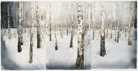 Lars Lerin / Björkar, Birches / 2011