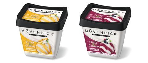 Mövenpickin Fruity & Creamy -uutuuksissa yhdistyy sorbetin keveys ja sveitsiläisen kermajäätelön hienostunut maku