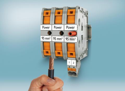 Phoenix Contact på HI 13: Stærkstrømsklemmer med Push-in tilslutningsteknologi til ledninger op til 95 mm2