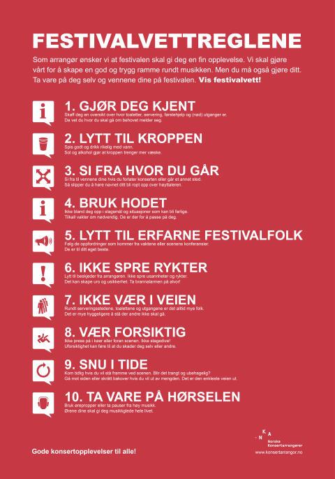 Festivalvettreglene 2016