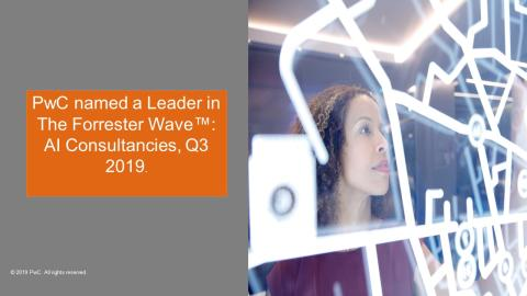 PwC rated as a Leader in AI Consulting