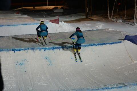 Anna Holmlund och Sandra Näslund på plats i Hemavan