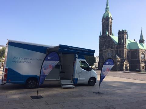 Beratungsmobil der Unabhängigen Patientenberatung kommt am 15. November nach Mönchengladbach (Rheydt).