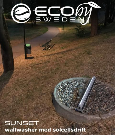 Smarta effektiva solcellsarmaturer med många användningsområden - Sunset Wallwasher