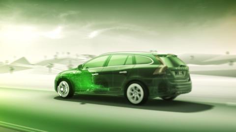 Volvo Personvagnar först med nästa generation hybrider  V60 Plug-in Hybrid är tre bilar i en