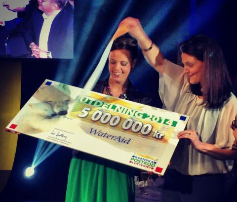 Miljoner skäl att fira - PostkodLotteriet ger WaterAid 5 miljoner kronor
