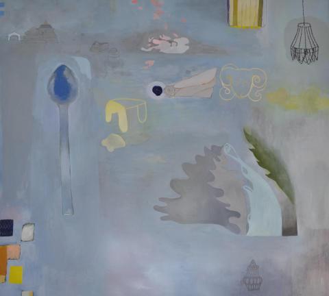Mia Fagergren visar måleri på Örebro Konsthall