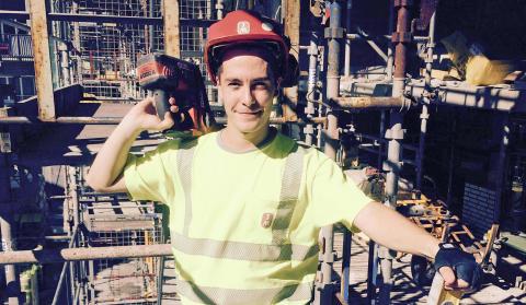 Joakim Wendel hos JM blev årets bygglärling