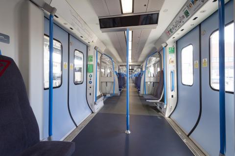 New Moorgate 717 train - saloon