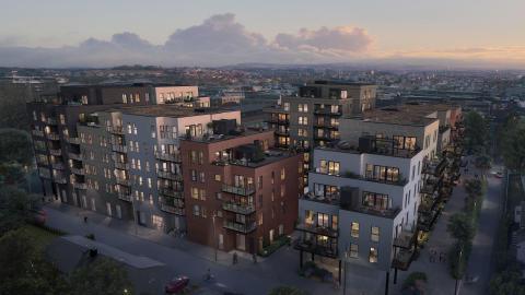 Skanska skal bygge Lillestrøms mest miljøvennlige boligprosjekt