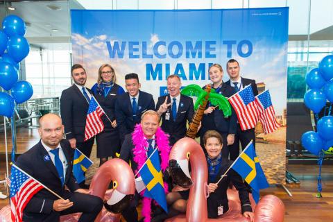 Premiär för ny direktlinje till Miami med SAS från Arlanda