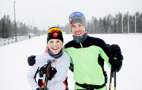 Anna och Johan Olsson Officiella Vasaloppscoacher Foto Mats Andersson