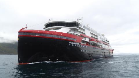 MS Roald Amundsen is delivered