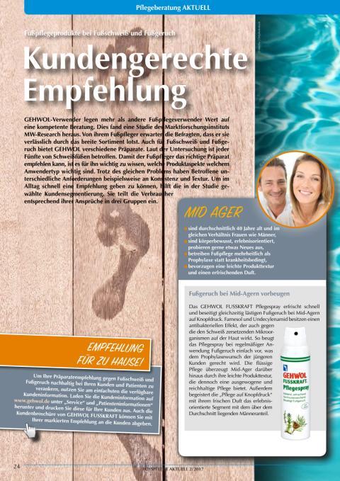 Wirksam heißt auch zweckmäßig: Fußpflegeprodukte bei Fußschweiß und Fußgeruch
