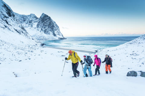 Wanderung auf Kvalvika, Lofoten