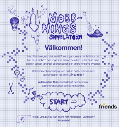 Friends lanserar Mobbningssimulator – vill få vuxna att agera mot näthat