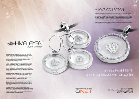 QNET's Himalayan Crystal Collection is featured in popular Brilliance Moldova magazine / Коллекция Himalayan Crystal от QNET на страницах очень популярного журнала в Молдове Brilliance